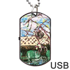Blooming Tree 2 Dog Tag Usb Flash (one Side) by bestdesignintheworld