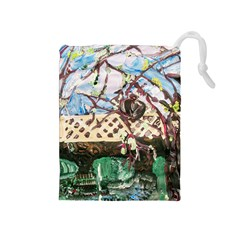 Blooming Tree 2 Drawstring Pouches (medium)  by bestdesignintheworld