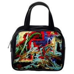 Blue Flamingoes 6 Classic Handbags (one Side) by bestdesignintheworld
