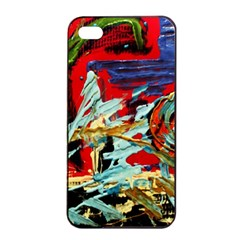 Blue Flamingoes 6 Apple Iphone 4/4s Seamless Case (black) by bestdesignintheworld