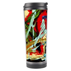 Blue Flamingoes 6 Travel Tumbler by bestdesignintheworld