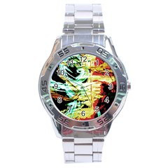 Blue Flamingoes 3 Stainless Steel Analogue Watch by bestdesignintheworld