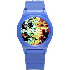 Blue Flamingoes 3 Round Plastic Sport Watch (s) by bestdesignintheworld