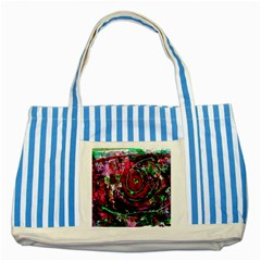 Bloody Coffee 7 Striped Blue Tote Bag by bestdesignintheworld