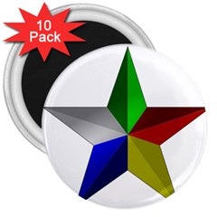 Druze Star 3  Magnets (10 Pack)  by abbeyz71