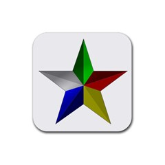Druze Star Rubber Coaster (square)  by abbeyz71