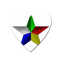 Druze Star Heart Magnet by abbeyz71