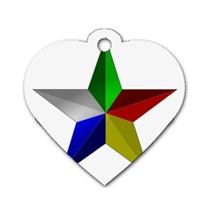 Druze Star Dog Tag Heart (two Sides) by abbeyz71