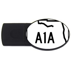 Florida State Road A1a Usb Flash Drive Oval (2 Gb) by abbeyz71