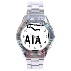 Florida State Road A1a Stainless Steel Analogue Watch by abbeyz71