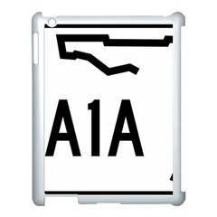 Florida State Road A1a Apple Ipad 3/4 Case (white) by abbeyz71