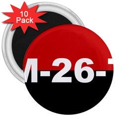 The 26th Of July Movement Flag 3  Magnets (10 Pack)  by abbeyz71