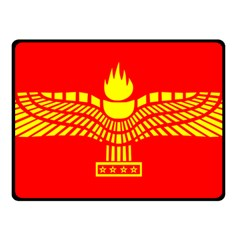 Aramean Syriac Flag Fleece Blanket (small) by abbeyz71