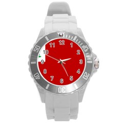 Revolutionary War Flag Of New England Round Plastic Sport Watch (l)