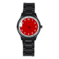Revolutionary War Flag Of New England Stainless Steel Round Watch by abbeyz71