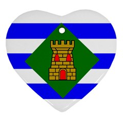 Flag Of Vieques Ornament (heart)