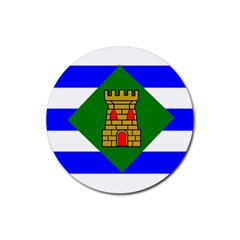 Flag Of Vieques Rubber Coaster (round)  by abbeyz71