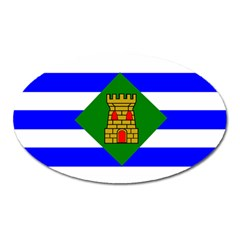 Flag Of Vieques Oval Magnet by abbeyz71