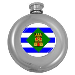 Flag Of Vieques Round Hip Flask (5 Oz) by abbeyz71