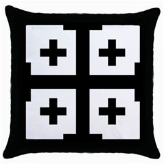 Black Jerusalem Cross  Throw Pillow Case (black) by abbeyz71