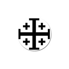 Black Jerusalem Cross  Golf Ball Marker (4 Pack) by abbeyz71