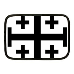Black Jerusalem Cross  Netbook Case (medium)  by abbeyz71