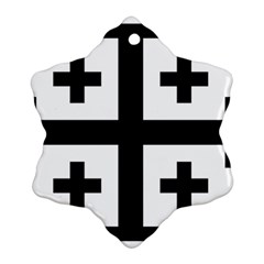 Black Jerusalem Cross  Ornament (snowflake) by abbeyz71