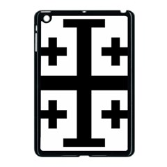 Black Jerusalem Cross  Apple Ipad Mini Case (black) by abbeyz71