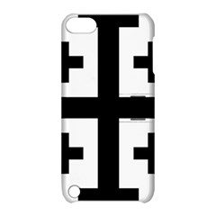 Black Jerusalem Cross  Apple Ipod Touch 5 Hardshell Case With Stand by abbeyz71