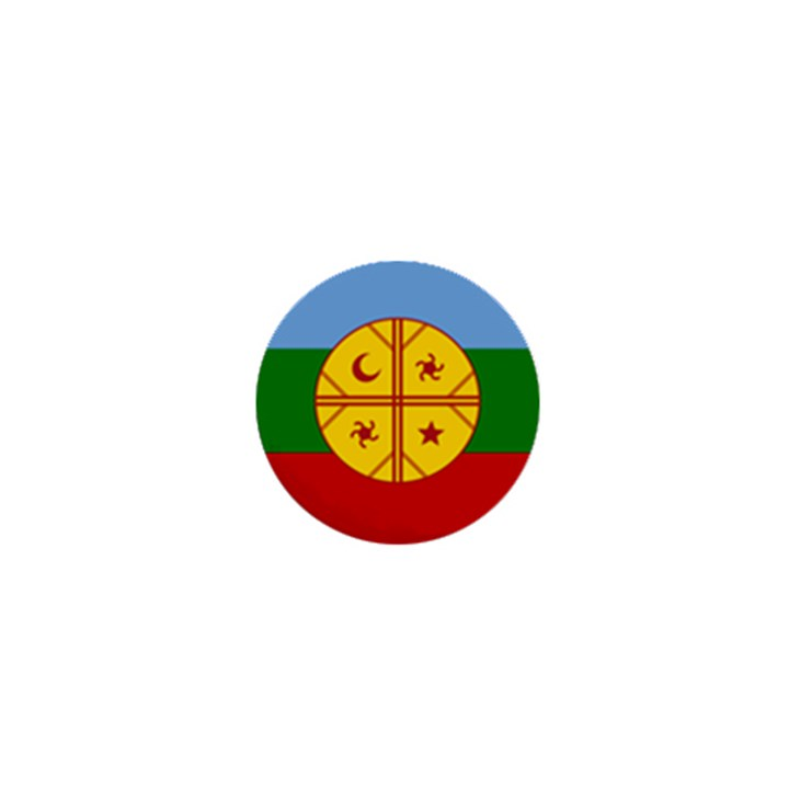 Flag of the Mapuche People 1  Mini Buttons