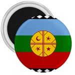 Flag of the Mapuche People 3  Magnets Front