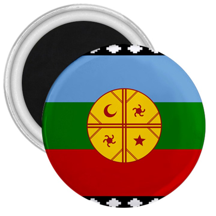Flag of the Mapuche People 3  Magnets