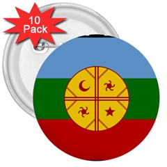 Flag Of The Mapuche People 3  Buttons (10 Pack)  by abbeyz71