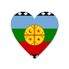 Flag Of The Mapuche People Heart Magnet by abbeyz71