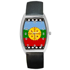 Flag Of The Mapuche People Barrel Style Metal Watch by abbeyz71