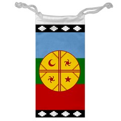 Flag Of The Mapuche People Jewelry Bag by abbeyz71