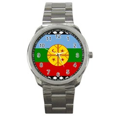 Flag Of The Mapuche People Sport Metal Watch