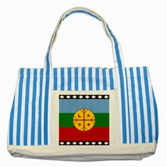 Flag Of The Mapuche People Striped Blue Tote Bag by abbeyz71