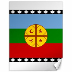 Flag Of The Mapuche People Canvas 12  X 16   by abbeyz71