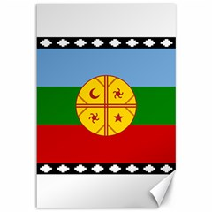 Flag Of The Mapuche People Canvas 12  X 18   by abbeyz71