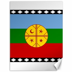 Flag Of The Mapuche People Canvas 36  X 48   by abbeyz71