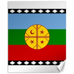 Flag Of The Mapuche People Canvas 11  X 14   by abbeyz71