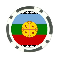Flag Of The Mapuche People Poker Chip Card Guard by abbeyz71