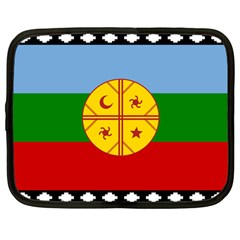 Flag Of The Mapuche People Netbook Case (large) by abbeyz71