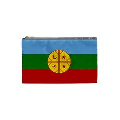 Flag Of The Mapuche People Cosmetic Bag (small)  by abbeyz71
