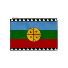 Flag Of The Mapuche People Cosmetic Bag (medium)  by abbeyz71