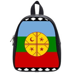 Flag Of The Mapuche People School Bag (small) by abbeyz71
