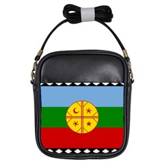 Flag Of The Mapuche People Girls Sling Bags by abbeyz71
