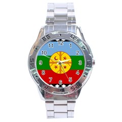 Flag Of The Mapuche People Stainless Steel Analogue Watch by abbeyz71