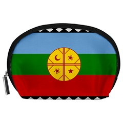 Flag Of The Mapuche People Accessory Pouches (large)  by abbeyz71